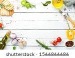 white cooking banner. kitchen...