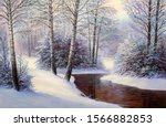 Winter Landscape With The River....