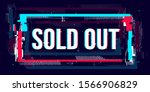 glitch sold out banner ... | Shutterstock .eps vector #1566906829
