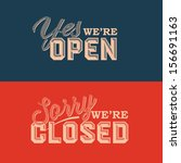 open and closed sign  ... | Shutterstock .eps vector #156691163