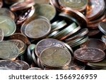 Coins background. euro coins....