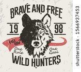 wolf emblem  mascot head... | Shutterstock .eps vector #1566937453