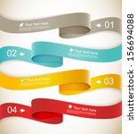set of ribbons | Shutterstock .eps vector #156694088