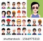 people avatars. vector women ... | Shutterstock .eps vector #1566975310
