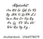 calligraphy alphabet set of... | Shutterstock . vector #1566978079