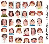 avatars. watercolors on paper | Shutterstock . vector #156698669