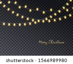 merry christmas card with... | Shutterstock .eps vector #1566989980