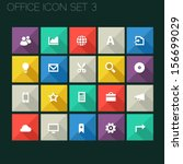 trend office icons with long...