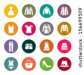 clothes icons   Shutterstock .eps vector #156699509