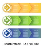 vector paper progress... | Shutterstock .eps vector #156701480