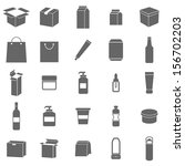 packaging icons on white... | Shutterstock .eps vector #156702203