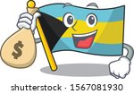 Flag Bahamas Cartoon With In...