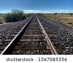 Railway Track Cut Through The...