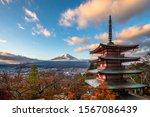 chureito pagoda  mount fuji and ... | Shutterstock . vector #1567086439