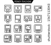 atm  money machine icons set... | Shutterstock .eps vector #1567113043