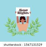 woman protesting design  human... | Shutterstock .eps vector #1567131529