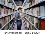 student at the public library | Shutterstock . vector #156714224