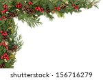christmas background floral... | Shutterstock . vector #156716279