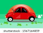 car red cartoon travel vector... | Shutterstock .eps vector #1567164859