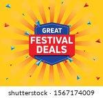 great festival deals offer sale ... | Shutterstock .eps vector #1567174009