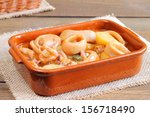 squid and potato stew | Shutterstock . vector #156718490