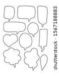 vector bubbles speech doodle...   Shutterstock .eps vector #1567188883