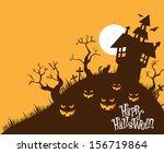 halloween background | Shutterstock .eps vector #156719864