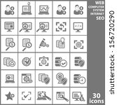 computer analysis icons gray... | Shutterstock .eps vector #156720290