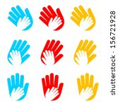 vector icon with hands. care... | Shutterstock .eps vector #156721928