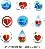 human heart symbol collection.... | Shutterstock .eps vector #156725648