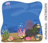 coral under the sea background.   Shutterstock .eps vector #1567283293