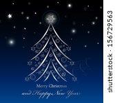 christmas tree background  ... | Shutterstock .eps vector #156729563