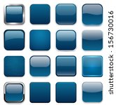 set of blank dark blue square...