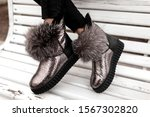 Fashionable Silver Shoes With...