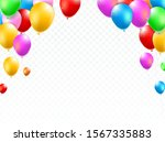 Colored Party Balloons On White ...