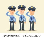 saluting police officers in... | Shutterstock .eps vector #1567386070