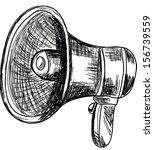 doodle style megaphone  vector... | Shutterstock .eps vector #156739559