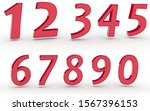 3d numbers 1234567890 on white... | Shutterstock . vector #1567396153