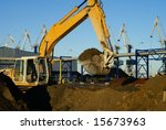 hydraulic excavator at work.... | Shutterstock . vector #15673963