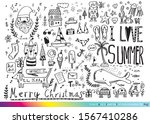 vector illustration of doodle... | Shutterstock .eps vector #1567410286