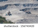 extracting stone from rock and... | Shutterstock . vector #156743420