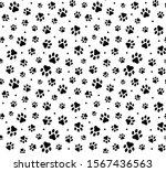 cat paw dog paw kitten vector... | Shutterstock .eps vector #1567436563