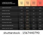 multipurpose table layout...   Shutterstock .eps vector #1567440790