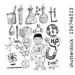 science object in doodle style... | Shutterstock .eps vector #156746513