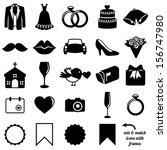 vector collection of wedding...   Shutterstock .eps vector #156747980