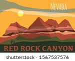 red rock canyon in in nevadas...