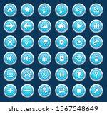 buttons set color blue border...