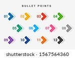 direction number bullet points... | Shutterstock .eps vector #1567564360