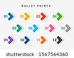 direction number bullet points... | Shutterstock .eps vector #1567564360