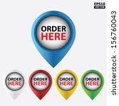 vector   order here icons for... | Shutterstock .eps vector #156760043